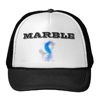MARBLE Hat WHITE and BLACK