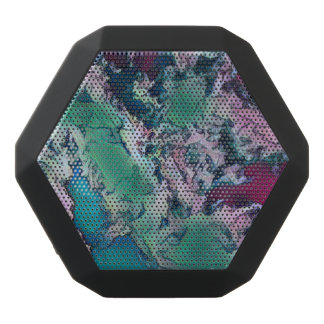 Marble Like Seasonal Festive  Colors Black Bluetooth Speaker
