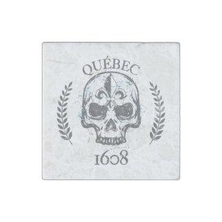 Marble magnet Quebec skull/skull biker