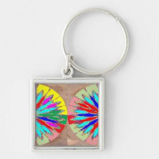 Marble Marvellous Diamond Patterns Keychain