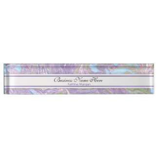 Marble Mauve Abstract Name Plate