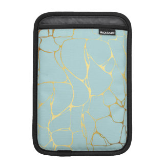 marble,mint,gold,modern,trendy,beautiful,chic,eleg iPad mini sleeve