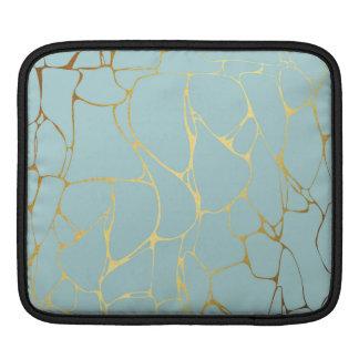 marble,mint,gold,modern,trendy,beautiful,chic,eleg iPad sleeve