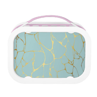 marble,mint,gold,modern,trendy,beautiful,chic,eleg lunch box