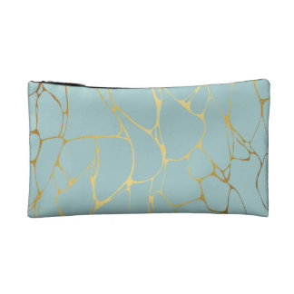 marble,mint,gold,modern,trendy,beautiful,chic,eleg makeup bag