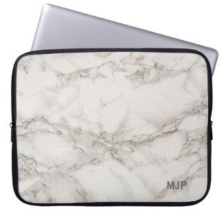 Marble Monogram Laptop Sleeve