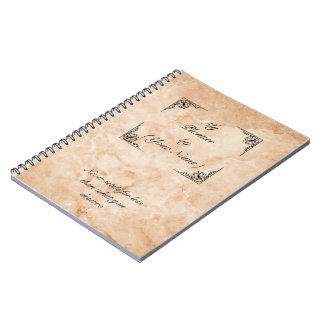 marble notebook victorian leaf desgin ratio