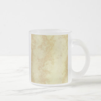 Marble or Granite Textured 10 Oz Frosted Glass Coffee Mug