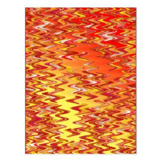 Marble Patch Tight Swirl Digital Art Postcard