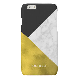 Marble Pattern and Faux Gold Foil