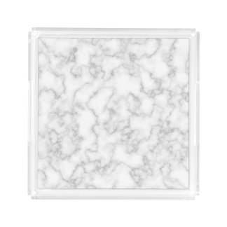 Marble Pattern Gray White Marbled Stone Background Acrylic Tray