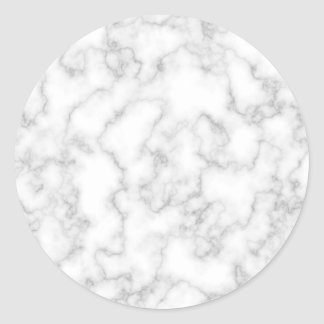Marble Pattern Gray White Marbled Stone Background Classic Round Sticker