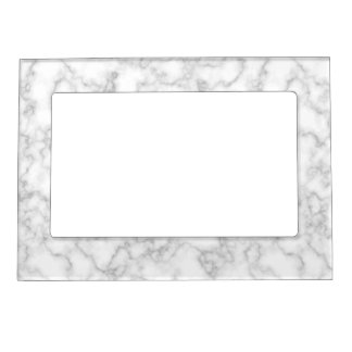 Marble Pattern Gray White Marbled Stone Background Magnetic Picture Frame
