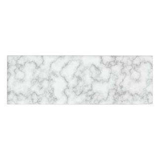 Marble Pattern Gray White Marbled Stone Background Name Tag