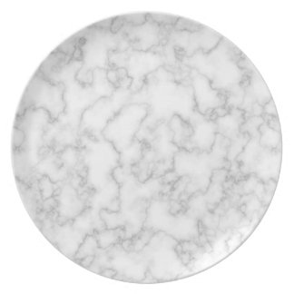 Marble Pattern Gray White Marbled Stone Background Plate
