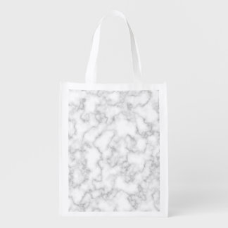 Marble Pattern Gray White Marbled Stone Background Reusable Grocery Bag