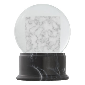 Marble Pattern Gray White Marbled Stone Background Snow Globe