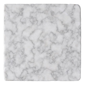 Marble Pattern Gray White Marbled Stone Background Trivet