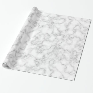 Marble Pattern Gray White Marbled Stone Background Wrapping Paper