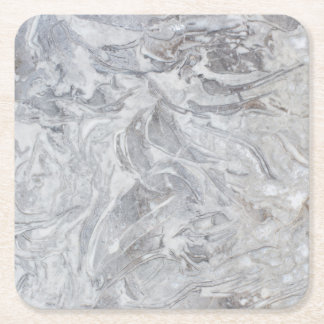 Marble pattern square paper coaster