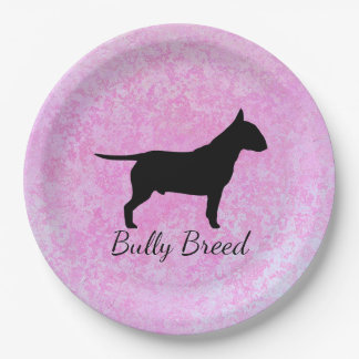 Marble Pink Textured Bully Breed Dog Plates