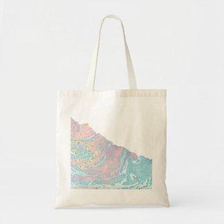 Marble rainbow tote bag