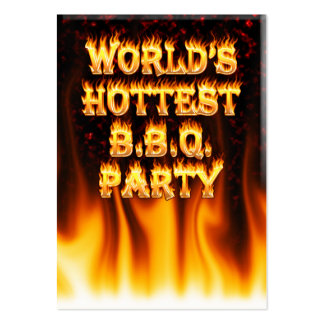 Marble Red World s Hottest BBQ Party Business Card
