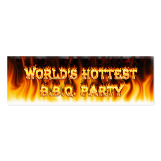Marble Red World's Hottest BBQ Party Pack Of Skinny Business Cards