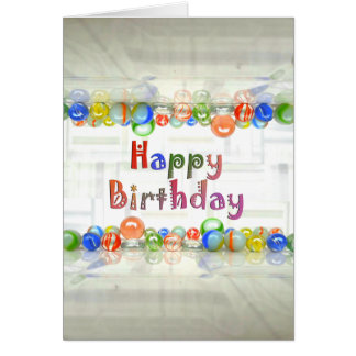 Marble Reflection Photography Birthday Card