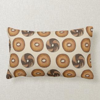 Marble Rye Cinnamon Raisin Plain Bagel Breakfast Lumbar Cushion