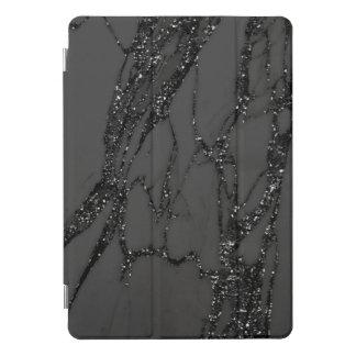 Marble Silver Gray Black Stone Gray Abstract VIP iPad Pro Cover