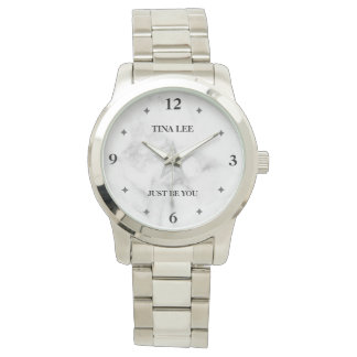 Marble-Star Modern Chic Oversized Watch