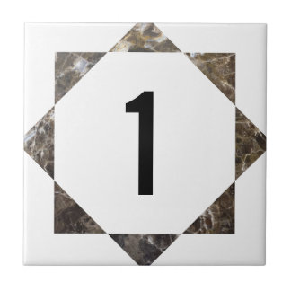 Marble star number tile