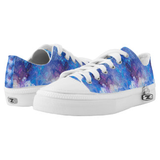 MARBLE STARRY NEBULA SKY BLUE LOW TOPS