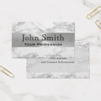 Marble Steel Silver Professional Business Card