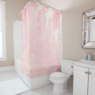 Marble Stone Abstract Candy Sangria Coral Pink Shower Curtain