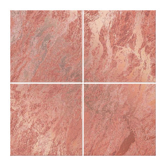 Marble Stone Abstract Copper Coral Rose Gold Luxur Canvas Print