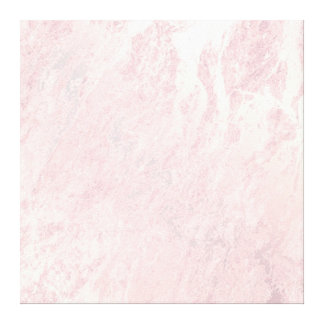 Marble Stone Abstract Gold Pink Rose Pastel Delica Canvas Print