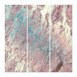 Marble Stone Abstract Teal Aqua Rose Gold Dream Canvas Print