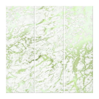 Marble Stone Abstract White Mint Green Greenery Canvas Print