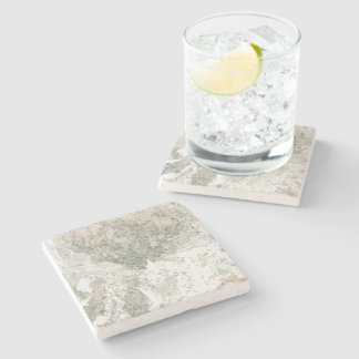 Marble Stone Bright Carrara Beige Ivory Cali Gray Stone Coaster
