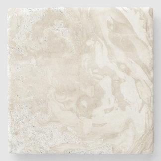 Marble Stone Bright Carrara Beige Ivory Gray Stone Coaster