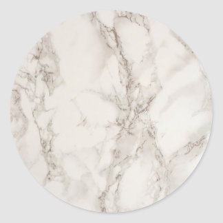 Marble Stone Classic Round Sticker
