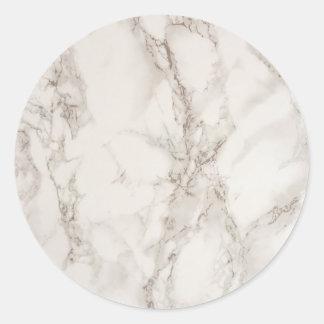 Marble Stone Classic Round Sticker