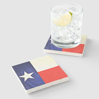 Marble Stone Coaster of Texas Flag