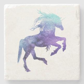Marble Stone Coaster Purple and Teal Unicorn