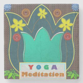 Marble Stone Coaster YOGA MEDITATION GiftS UNIQUE