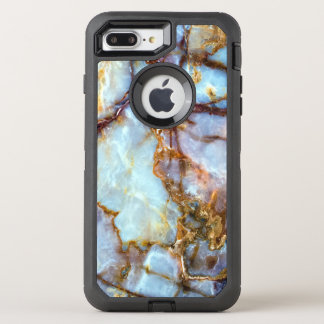 Marble Stone Gold Texture | Fashion and Stylish OtterBox Defender iPhone 8 Plus/7 Plus Case