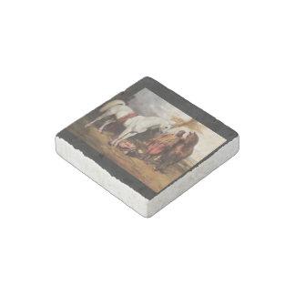 Marble Stone Magnet: Bedouin Scene Stone Magnet