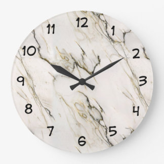 Marble Stone Pattern Large Clock